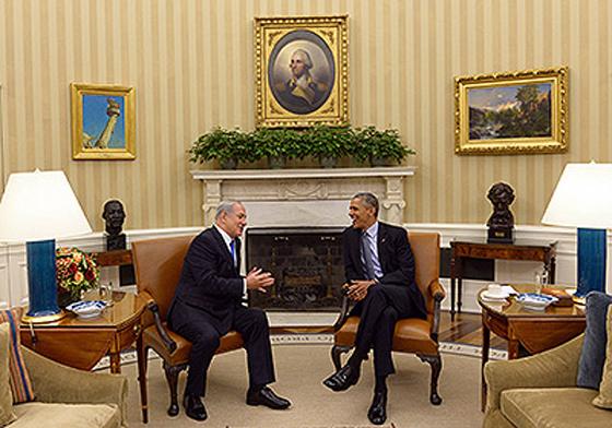 NetanyahuObama-HaimZah.jpg