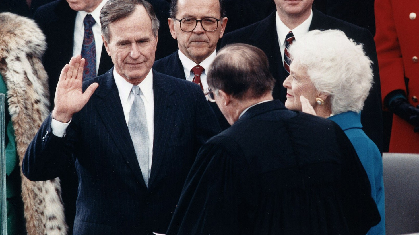 A balanced look at George H.W. Bush includes: the smear campaign that won him the White House, his successes in war and diplomacy, and his almost forgotten role as an environmental president.