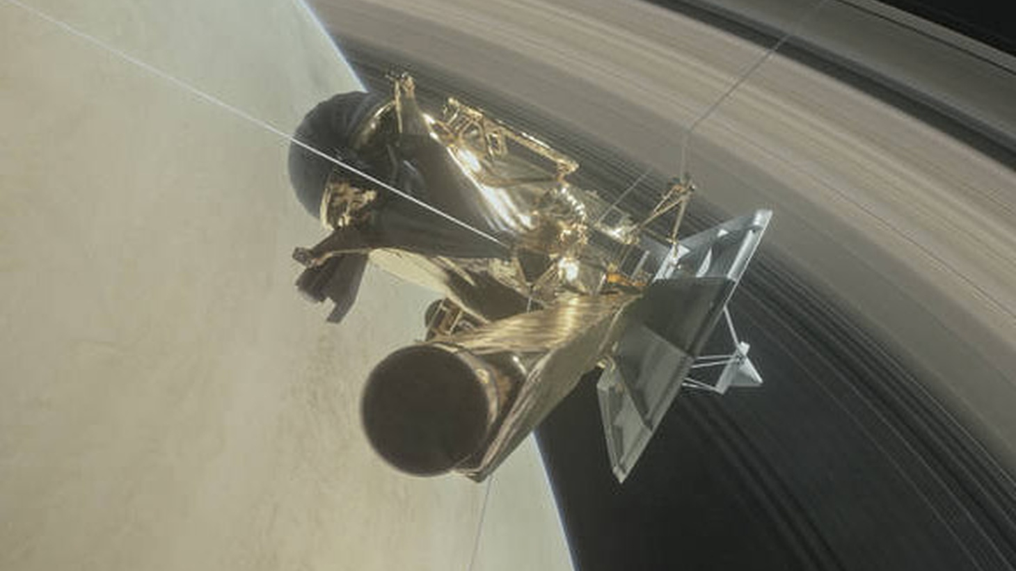 The  Cassini  spacecraft is one of NASA's greatest achievements… exploration of the planet Saturn, its moons and its rings. But all good things much come to an end. After 20 years in space, Cassini is running out of fuel.