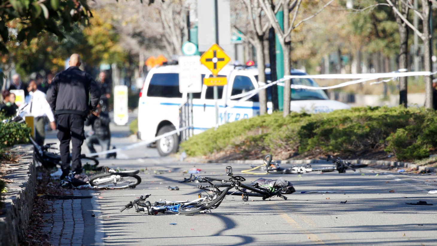 In New York yesterday, a 29-year-old Green Card holder from Uzbekistan mowed down pedestrians and cyclists on a bike path near the rebuilt World Trade Center. Eight people were killed — at least six were tourists from Argentina and Belgium.
