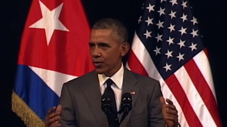 President Obama made a  historic speech  direct to the Cuban people today, peppered with Spanish phrases.