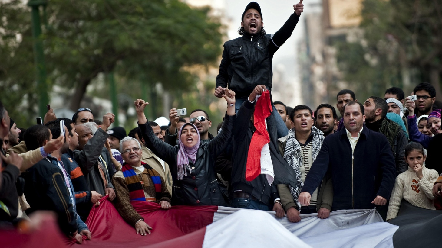 Protests are spreading in Cairo and other cities. Workers have gone on strike—but it's not clear if they share the goal of regime change.