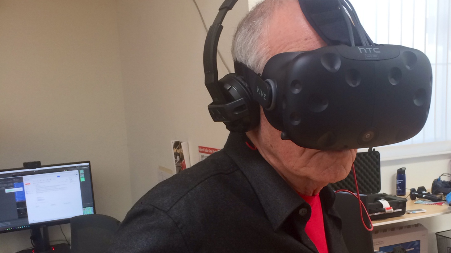 """Last week, Facebook's """"Oculous Rift"""" began shipping headsets to customers, but virtual reality is about much more than games or entertainment. The New York Times, the Des Moines Register, Frontline -- and KCRW -- are among the media organizations using it."""