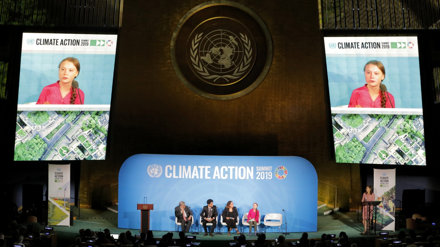 16-year-old Swedish Climate activist Greta Thunberg speaks at the 2019 United Nations Climate Action Summit at U.N. headquarters in New York City, New York, U.S., September 23, 2019.