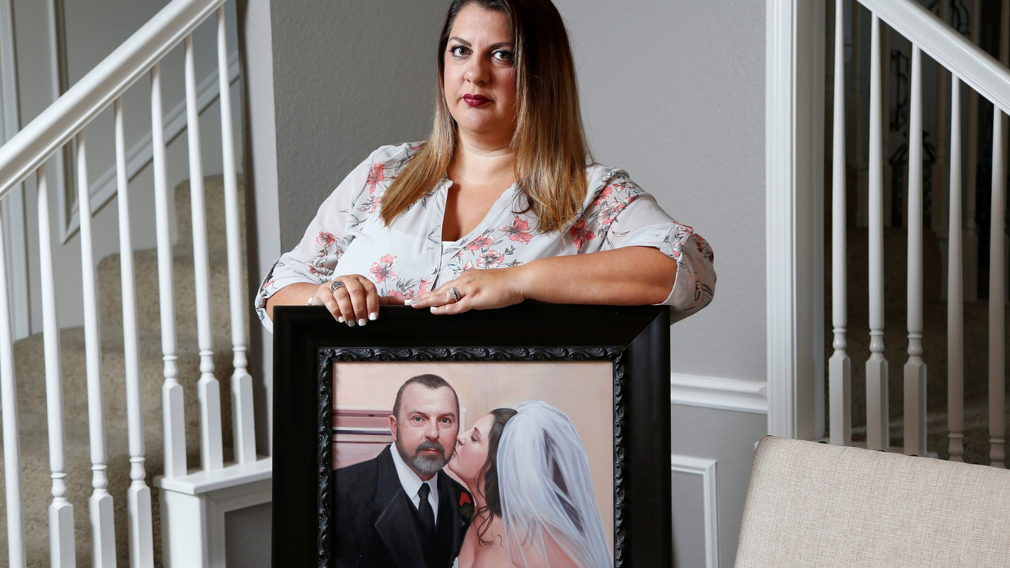 Farrah Fasold poses for a portrait with a painting of her late father Harold Dillard  at her home in Flower Mound, Texas, July 18, 2017  Photo by Brandon Wade/Reuters   The transplanting of organs from dead people to living ones is strictly regulated in every state. But the business in body parts for research is another matter.  Reuters  news…