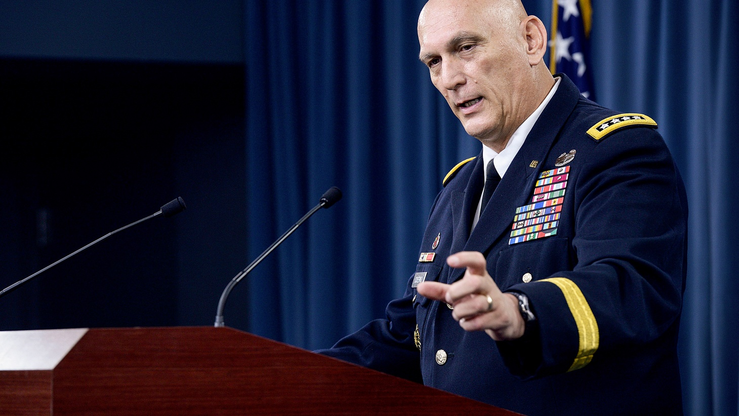 """The US and Russia have not gone back to the Cold War yet. But, after years of fighting in the Middle East, America's military establishment is gearing up to counter a greater threat to American security: """"hybrid warfare"""" used by Vladimir Putin in Eastern Ukraine."""