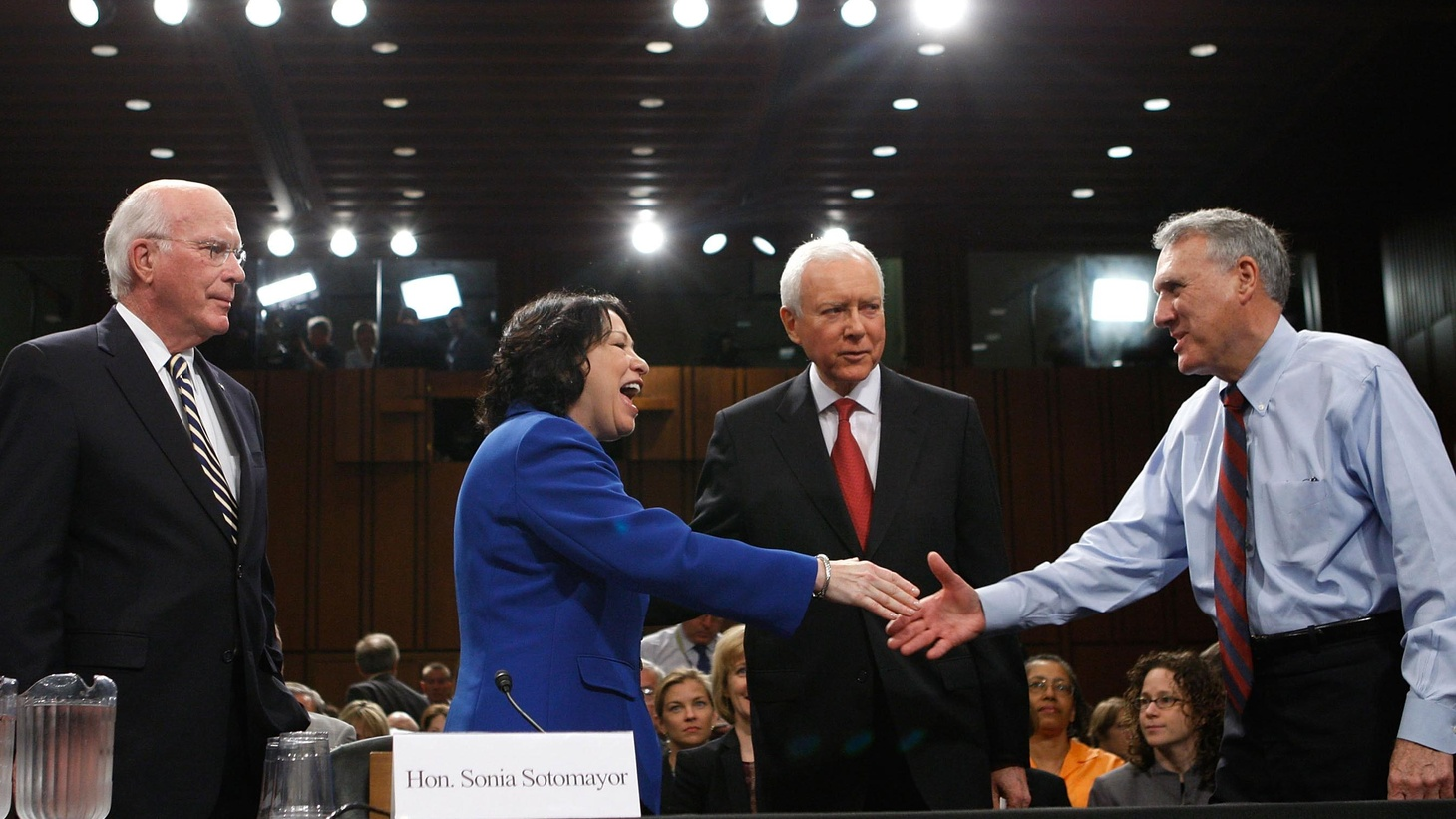 Judge Sonia Sotomayor is likely to be the next member of the US Supreme Court.  But Senators of both parties are using her confirmation hearings as a political platform. We hear about the first day of what could be a week of setting agendas. Also, Goldman Sachs' big profits, and  the confrontation continues between congressional Democrats and the CIA.