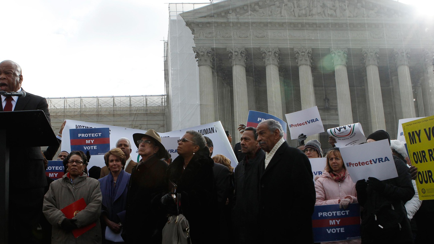 As predicted, conservatives on the US Supreme Court today took aim at Section 5 of the Voting Rights Act of 1965. We hear the arguments and what the justices had to say.