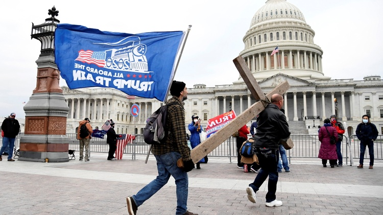 Political and religious violence at the US Capitol