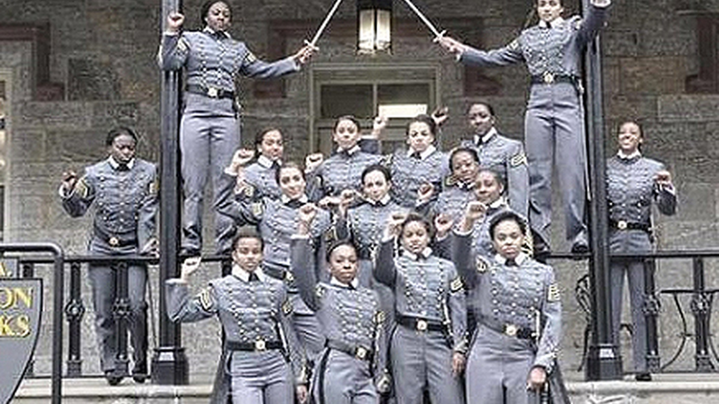 The few black women cadets at West Point are being investigated for political activity banned by the military — after making a gesture with a long and storied history.