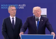 Trump plays scolder-in-chief with NATO allies