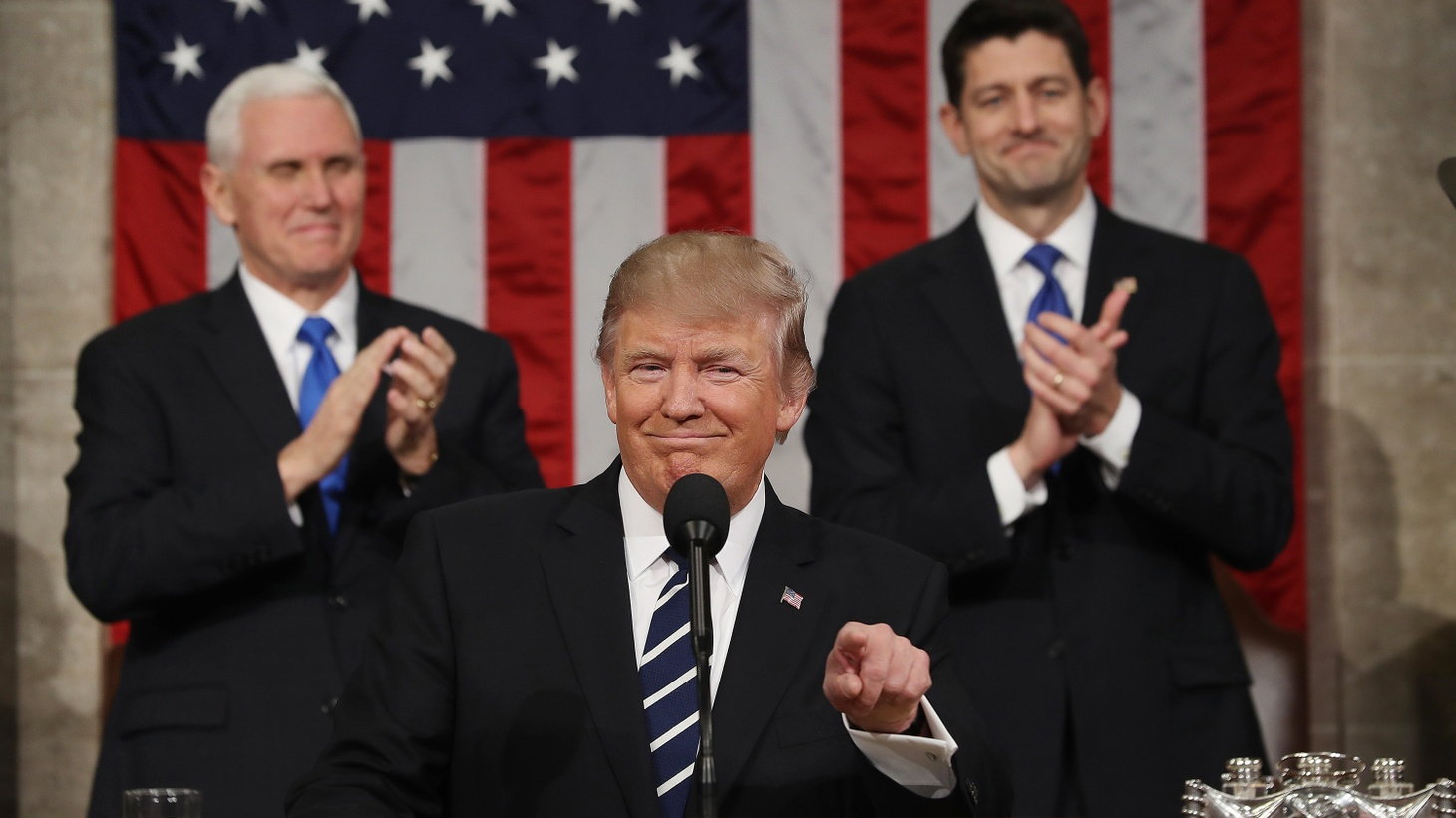 President Trump may have had a familiar message last night in his first address to a Joint Meeting of Congress, but his tone and his delivery were something new.
