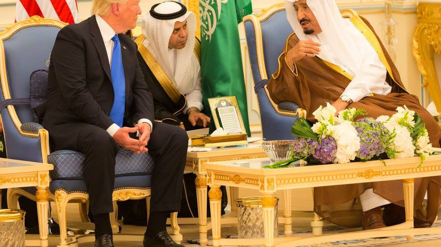 """In the Middle East, President Trump is changing some policies of the Obama Administration—and reversing his own campaign attacks on Islam as a religion that """"hates us."""" We hear about his visit to Saudi Arabia and what's at stake for the rest of his foreign excursion."""