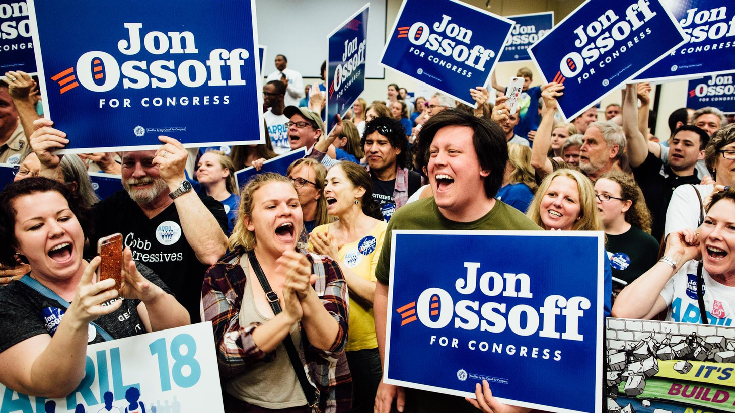 Tom Price gave up his congressional seat in the Atlanta suburbs to become President Trump's Secretary of Health and Human services. Yesterday, a 30-year-old novice Democrat,  Jon Ossoff , got 48% of the primary vote to replace him. But there will be a runoff against Republican  Karen Handel , formerly Georgia's Secretary of State.