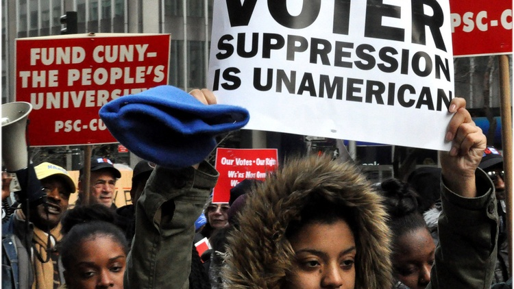 Voting may be the lynchpin of democracy, but it's not a right guaranteed by the Constitution.