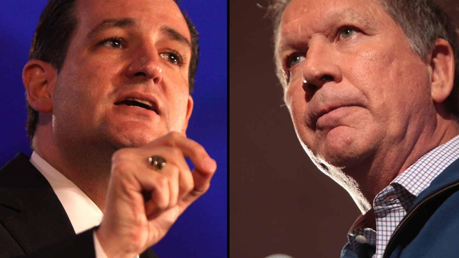 """For Ted Cruz and John Kasich, """"the enemy of my enemy is my friend."""" Donald Trump is looking like a big winner tomorrow in several Northeastern states. So  Ted Cruz  and  John Kasich  are joining forces by agreeing to divide their resources in Indiana, New Mexico and Oregon."""