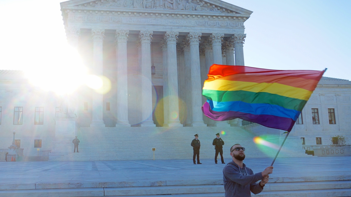 The US Supreme Court was divided today, but the majority made history by ruling that the 14th amendment to the Constitution guarantees the right of gays and lesbians to be married. President Obama called it a victory for all Americans.