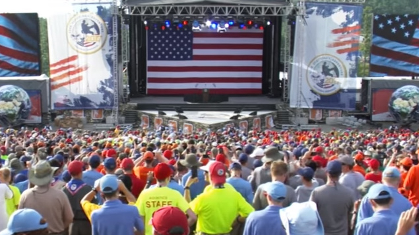 Last night in Glen Jean, West Virginia, President Trump addressed this year's National Boy Scout Jamboree. After establishing his bona fides, the president trampled on the tradition of the event by bringing up politics.