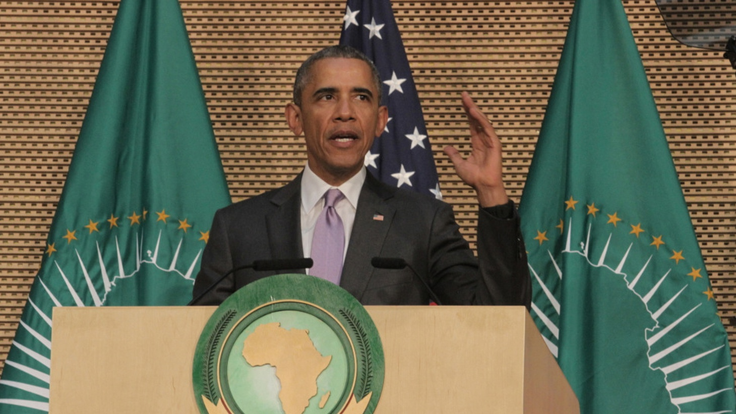 Four years ago, President Obama celebrated South Sudan as the world's newest nation. Today, at a meeting of the African Union, he was urging its East African neighbors to help stop that country's devastating civil war.