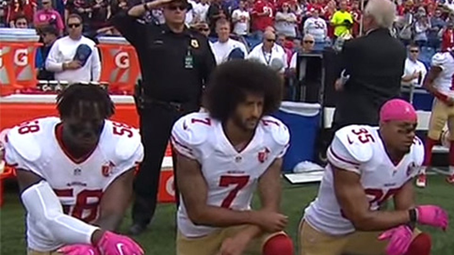 National Football League team owners are meeting today to craft a unified message about political protest. Men and women athletes in other sports are protesting too. We hear how one man's refusal to stand for the flag has demonstrated the inseparable relationship between sports and politics.