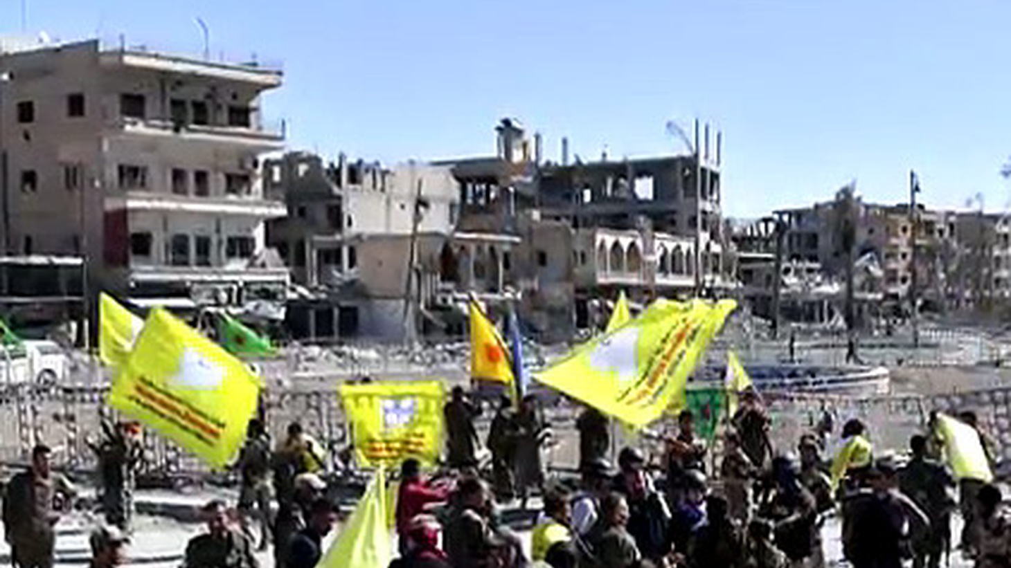 """With the backing of American power, Kurdish and Arab forces may have destroyed the city of Raqqa -- in order to save it. They claim that ISIS has been dislodged from what used to be called its """"capital city."""" Liz Sly, who covers Syria, Iraq and Lebanon for the  Washington Post , has more on the players and their roles."""