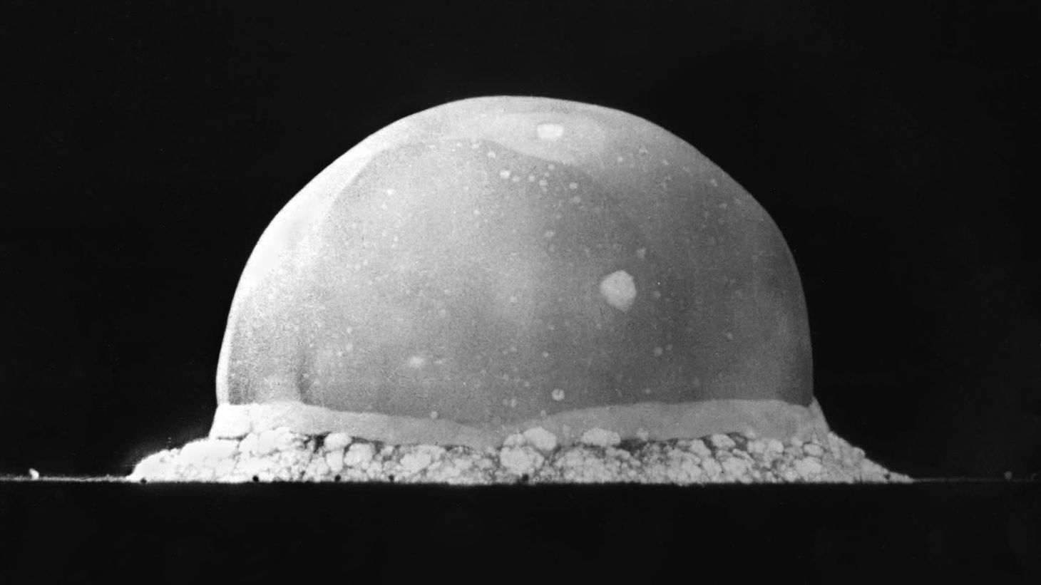 July 16, 2020 marks the anniversary of the detonation of the first ever nuclear bomb. On July 16, 1945, the 'Trinity' nuclear test plunged humanity into the so-called Atomic Age. The first-ever nuclear bomb was detonated in New Mexico, at the Alamogordo Test Range. The plutonium-based implosion-type device yielded 19 kilotons, creating a crater over 300 metres wide. Three weeks after the test, on August 6 and 9, 1945, nuclear bombs — one of them based on the Trinity design — were dropped on the Japanese cities of Hiroshima and Nagasaki, killing tens of thousands civilians immediately and many more from radiation exposure later. Picture shows Trinity milliseconds after the explosion.