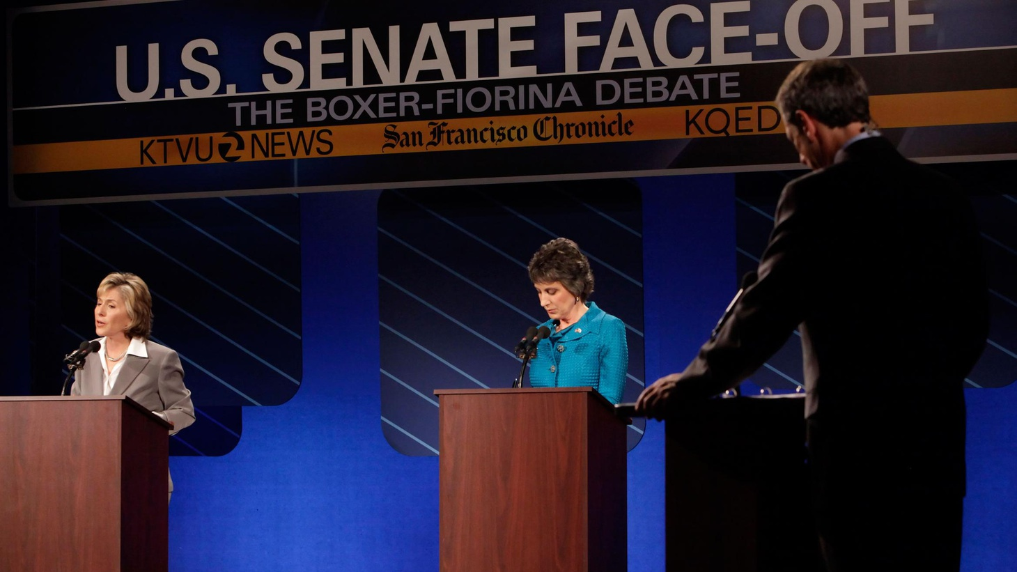 Democrat Barbara Boxer's trying for a fourth term in the US Senate. Republican Carly Fiorina says that's too long. California's a blue state, but polls show the race between the liberal incumbent and her conservative challenger is virtually tied. Last night, in their first debate, they offered voters stark choices on the environment, women's rights, immigration, jobs and the economy. It's a contest that could make a difference in which party controls the Upper House of Congress. We hear analysis of some crucial exchanges. On our rebroadcast of To the Point, another president, another try for Middle East peace.