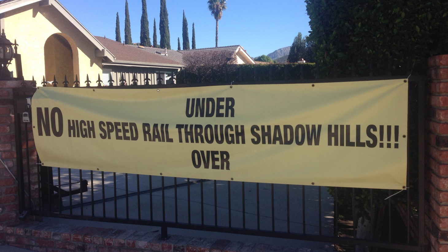 Out near Fresno, ground has finally been broken for California's $68 billion high-speed rail project. Closer to LA, possible routes are getting serious consideration. The bullet train may be a long way off, but residents are already organizing to oppose community sacrifice just so it can travel faster from one place to another.