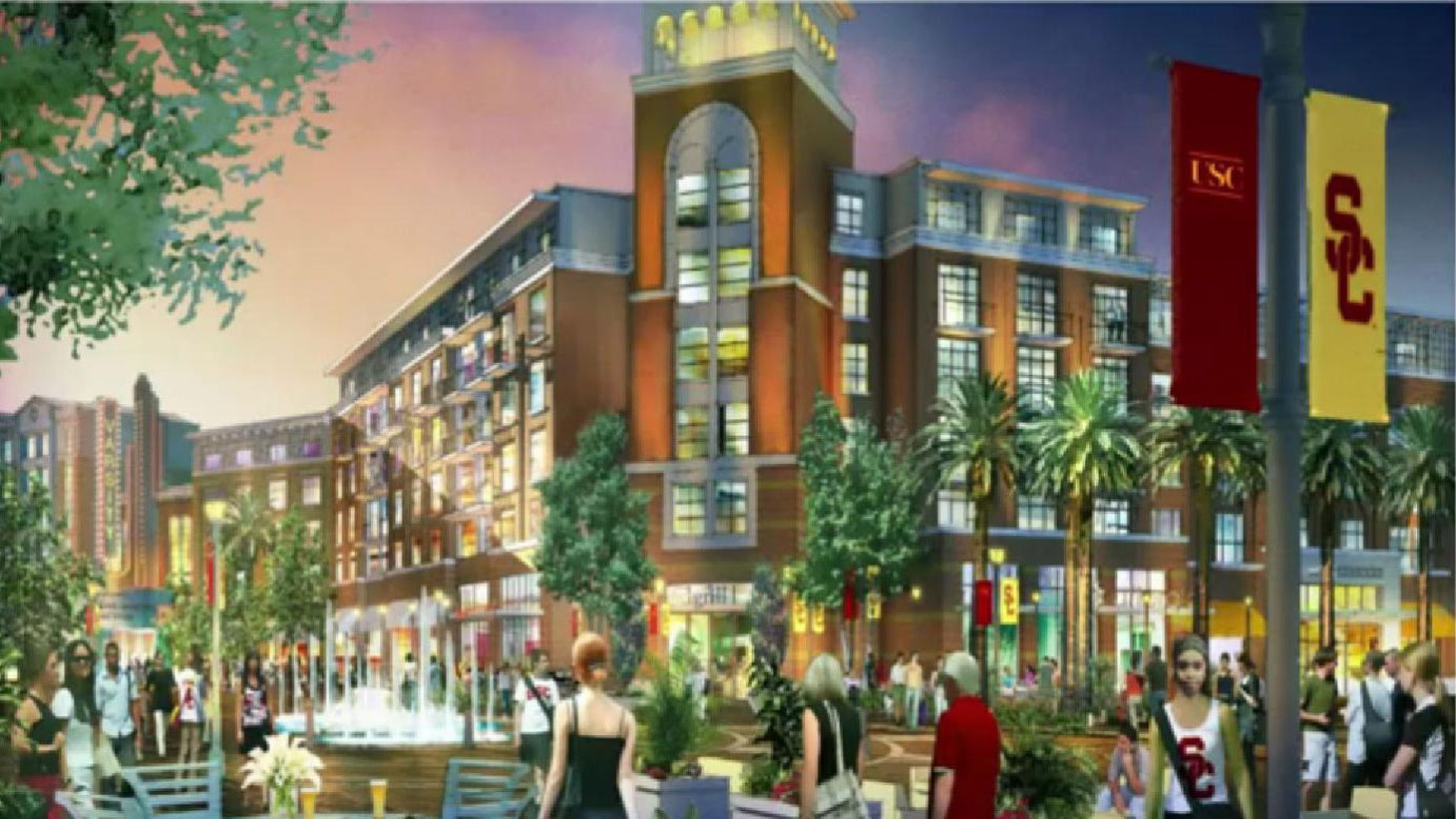 USC is planning to develop 35 acres of eateries, shops, a multi-plex, faculty office space and student housing. Will gentrification push locals out or do them a favor?