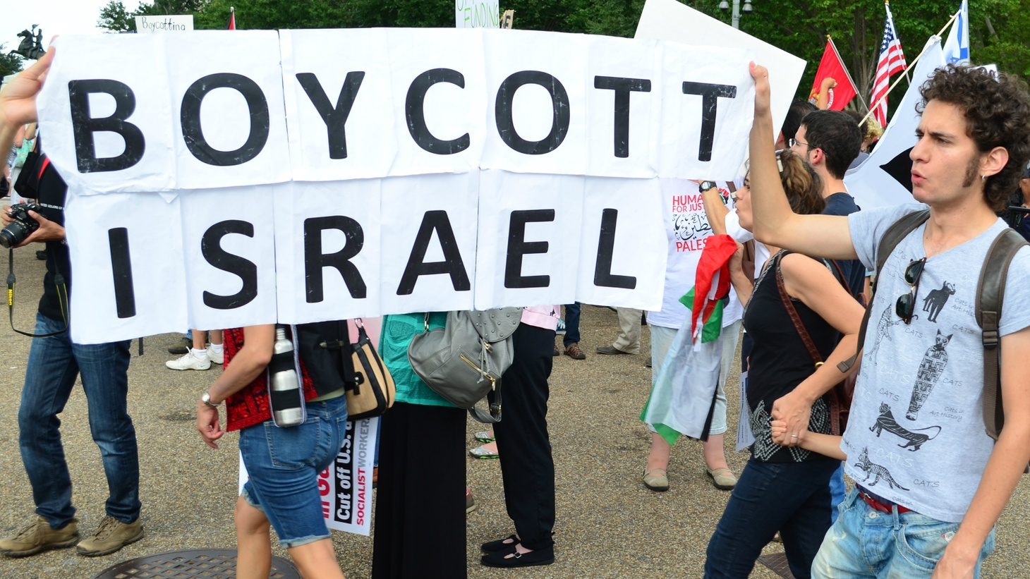 Heated clashes over Israeli policies toward the Palestinians have led to accusations of bigotry at American colleges, including campuses of the University of California. Now the Regents are being asked to adopt the US State Department's definition of anti-Semitism.  Is it a fair standard for discipline or a limitation on free speech? We hear a debate.
