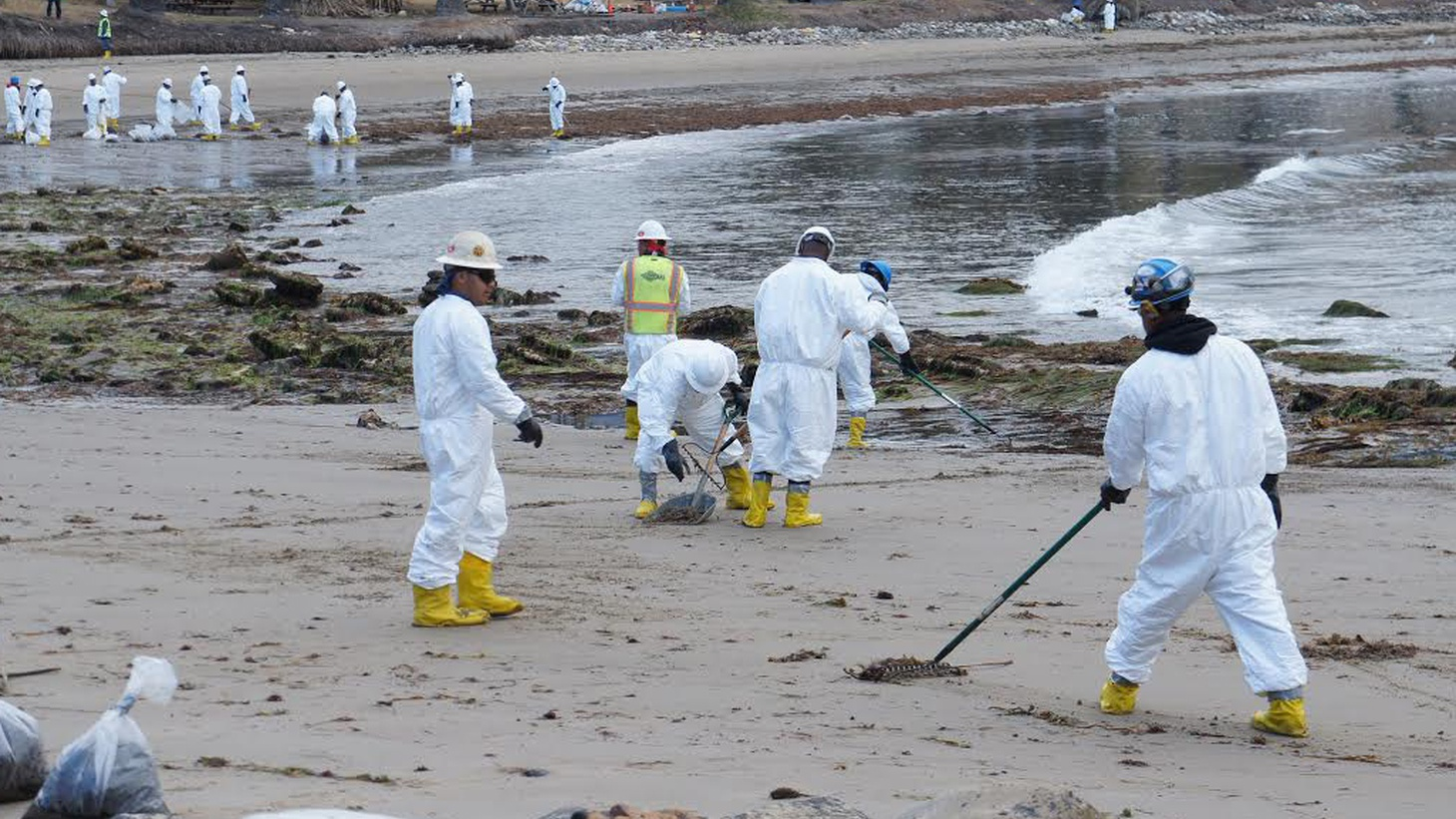 """One official calls this week's oil spill """"a worst-case scenario nightmare"""" for Santa Barbara, which has been ground zero for environmentalism since the massive oil-derrick blowout of 1969. The US Coast Guard is trying to manage public expectations for cleaning up, but KCRW'sSaul Gonzalez has found that activists are impatient."""