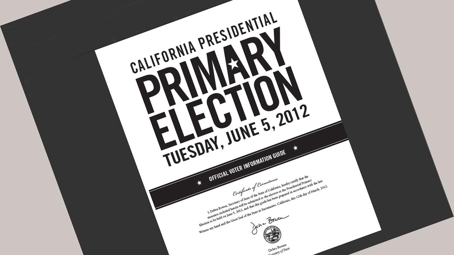 """Tomorrow's California primary could shake up state and Congressional politics for years to come. Hear why the LA Times told readers, """"Don't sit this one out."""""""