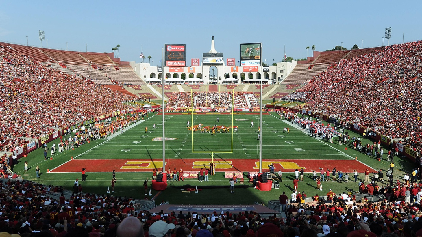 If LA gets an NFL franchise, would a football stadium guarantee downtown gridlock? Also, the Coliseum Commission's about to turn over a public facility to a private institution.