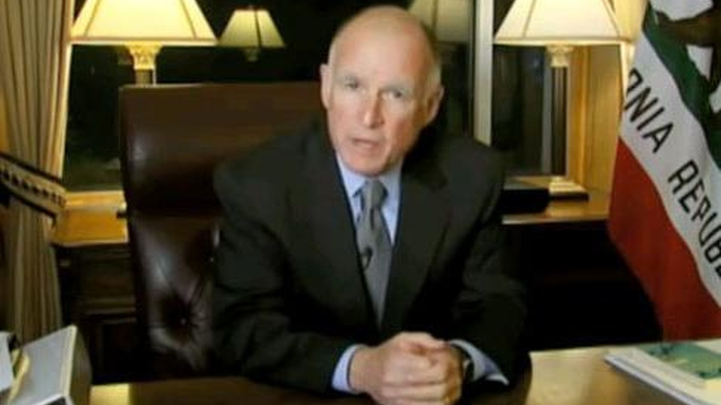 Governor Brown goes on the Internet after Republicans dig in their heals to prevent a vote on whether taxes should be extended.