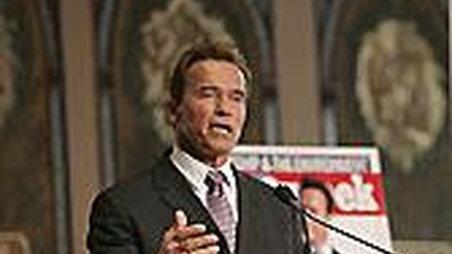 With no less than twelve TV news cameras and C-Span in the room today, Governor Schwarzenegger delivered the keynote address at a Washington conference on the environment.  We hear about going green without guilt. Also, a tent city at Los Angeles City Hall.