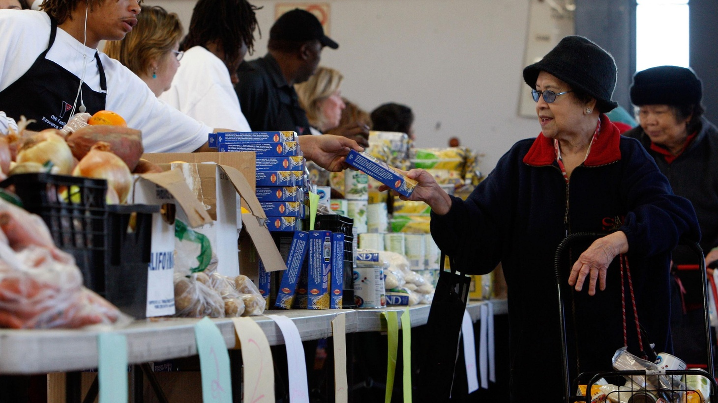 LA County has 1.7 million hungry residents, so many that food banks are struggling. Because of state laws, almost half don't know they're eligible for federal food stamps.