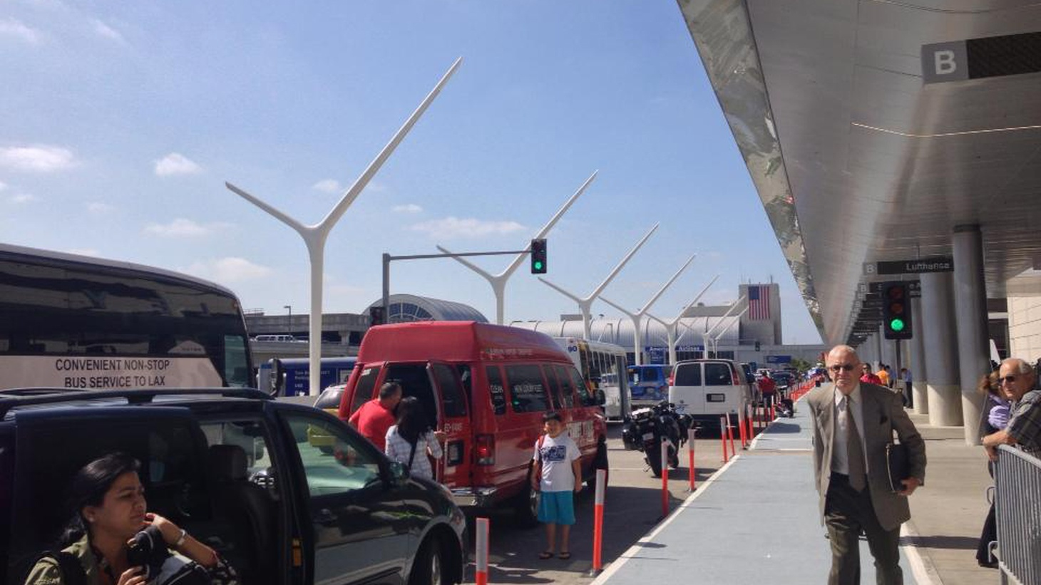Drivers for Uber, Lyft and other ride-sharing companies are picking up passengers all over LA, but they're not allowed at the region's major traffic hub, LA International Airport. Mayor Garcetti says they should be able to operate there, too. But traditional taxis are hurting, and cheaper competition will increase the pain.