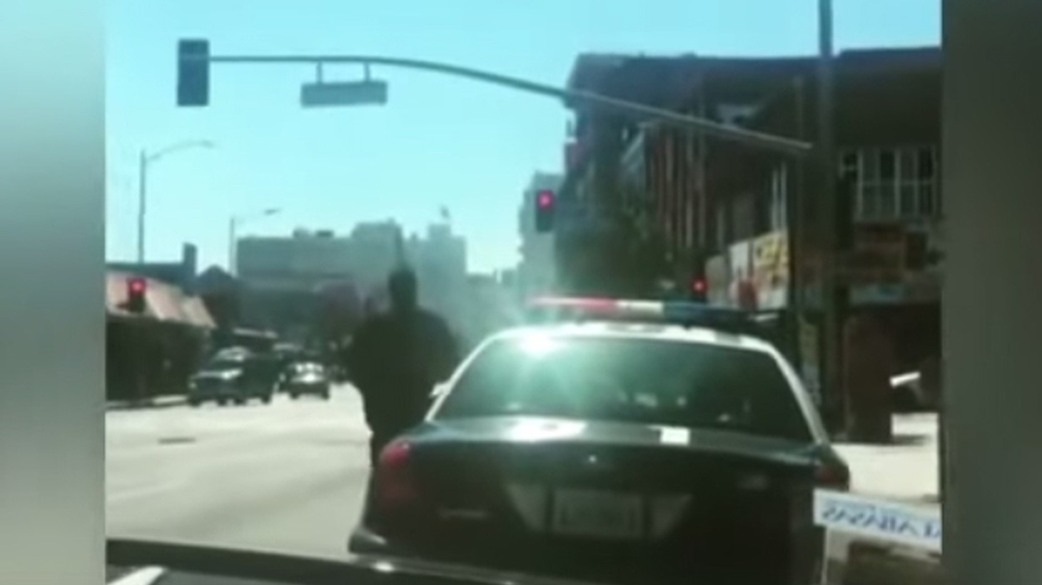 The year is only nine months over, but officers of the LAPD have already killed 18 people — as many as in all of 2014. Last Saturday night an unarmed man was killed by officers after the back window of their patrol car was broken out by a beer bottle. Did the dead man throw the bottle? What was the role of a video that led to an official warning that officers on patrol might be in danger?