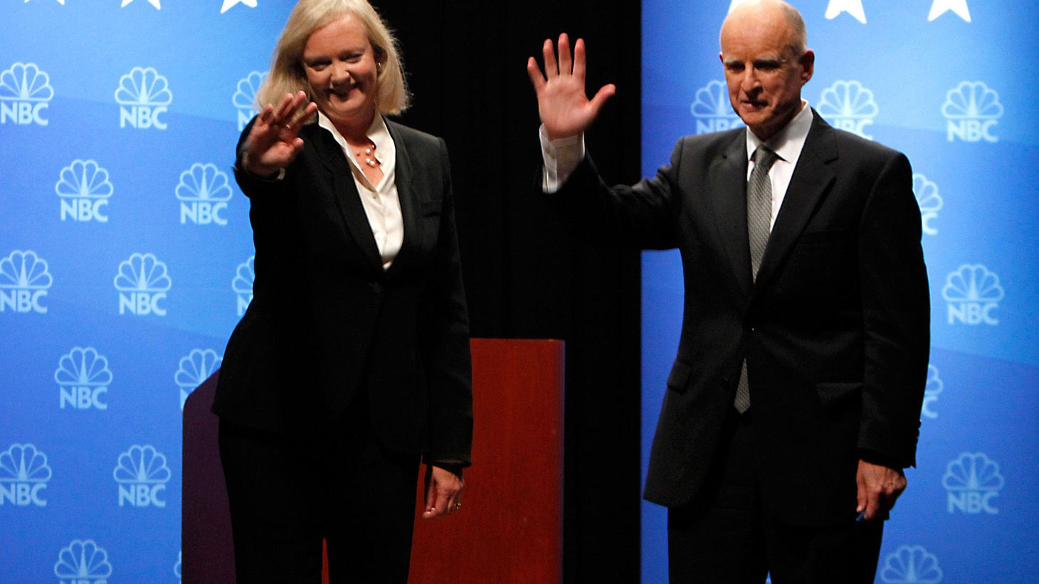 Meg Whitman and Jerry Brown met tonight again for the third and last time in a debate. We hear soundbites and analysis.