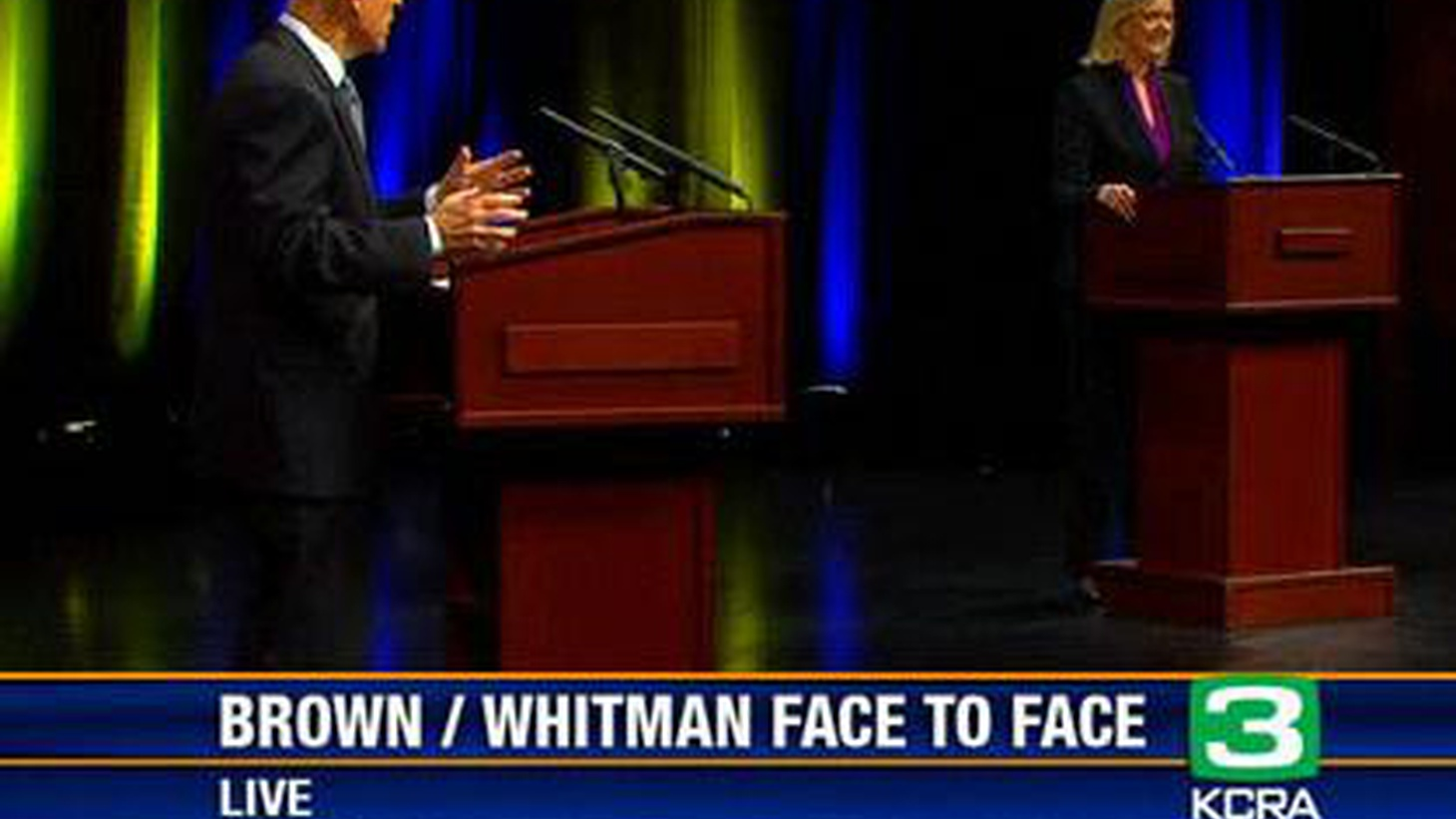 We've just broadcast the first face-to-face confrontation between this year's candidates for Governor, Attorney General Jerry Brown and former eBay CEO Meg Whitman. We get reactions from Republicans and Democrats. Did Brown explain how 45 years in politics qualify him to be Governor all over again? Did Whitman demonstrate how her business experience prepared her to start at the top in politics? In what could be a low turnout election, did they reach their parties' most likely voters? What about Independents? On our rebroadcast of To the Point, money and influence on Capitol Hill.