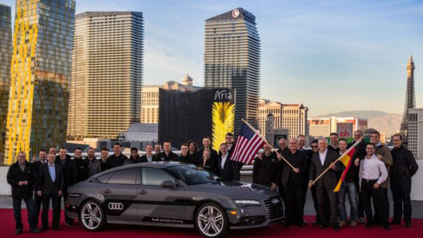 The  Consumer Electronics Show  is under way in Las Vegas—with 2.2 million square feet of exhibition space for the latest gadgets.     Audi A7 Sportback piloted driving concept arrives at the Consumer Electronics Show in Las Vegas