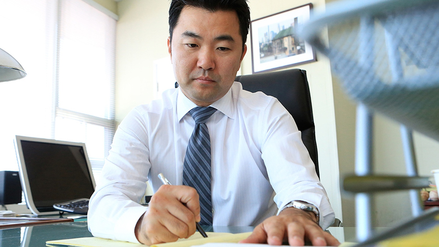 """David Ryu was sworn in yesterday as LA's first Korean-American City Councilman and the only the second member of Asian descent. Ryu defeated an establishment favorite, and raised high expectations among supporters with his promise to be an """"outsider."""" We ask him how he can make good on that promise and still get anything done on a council known for unanimity among """"insiders?"""""""