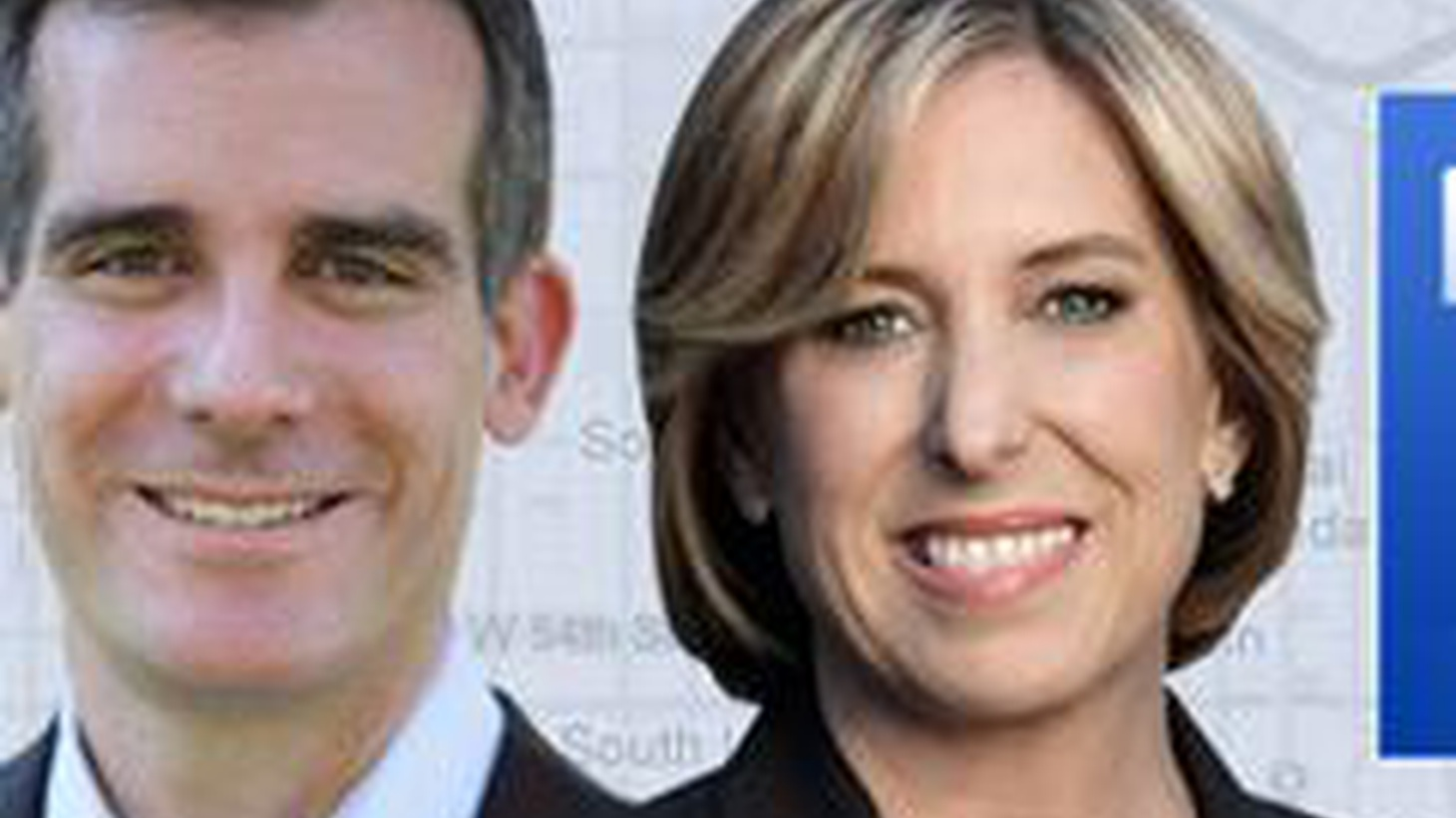 Warren Olney moderates a live debate between Eric Garcetti and Wendy Greuel, candidates for mayor of Los Angeles.