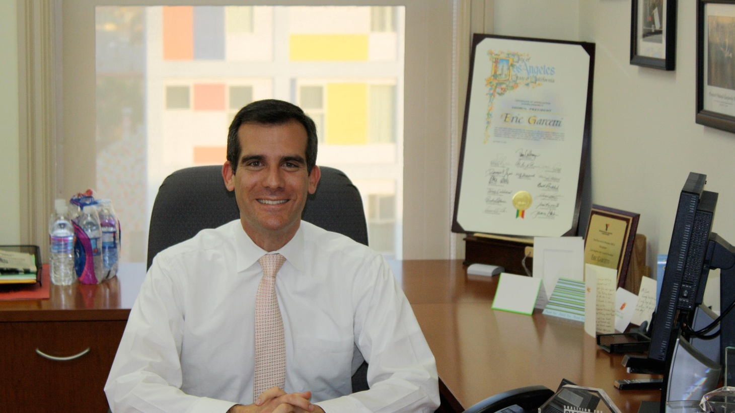 "Yesterday, Eric Garcetti spent his first day as Mayor of Los Angeles ""listening"" to lots of people. We ask him how soon he'll get his administration up and running."