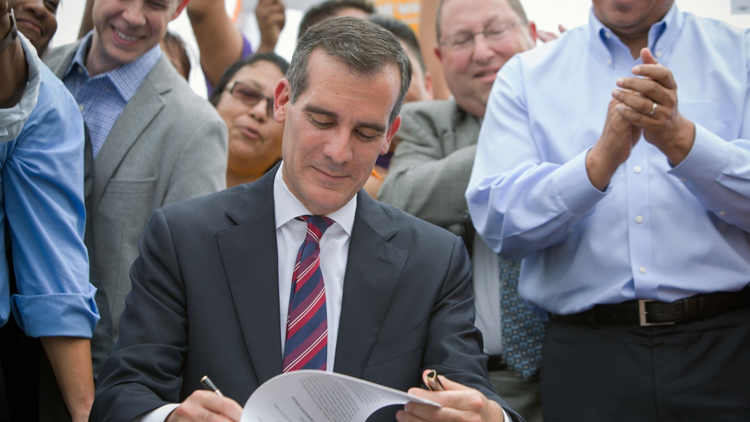 """After two years as Mayor of Los Angeles, Eric Garcetti claims a list of concrete accomplishments when it comes to the details of city services and the use of data to measure success. What he hasn't done is paint a Big Picture of what he wants America's second-biggest city to look like. On the second anniversary of his swearing in, we ask him, """"Mr. Mayor, which way LA?"""""""