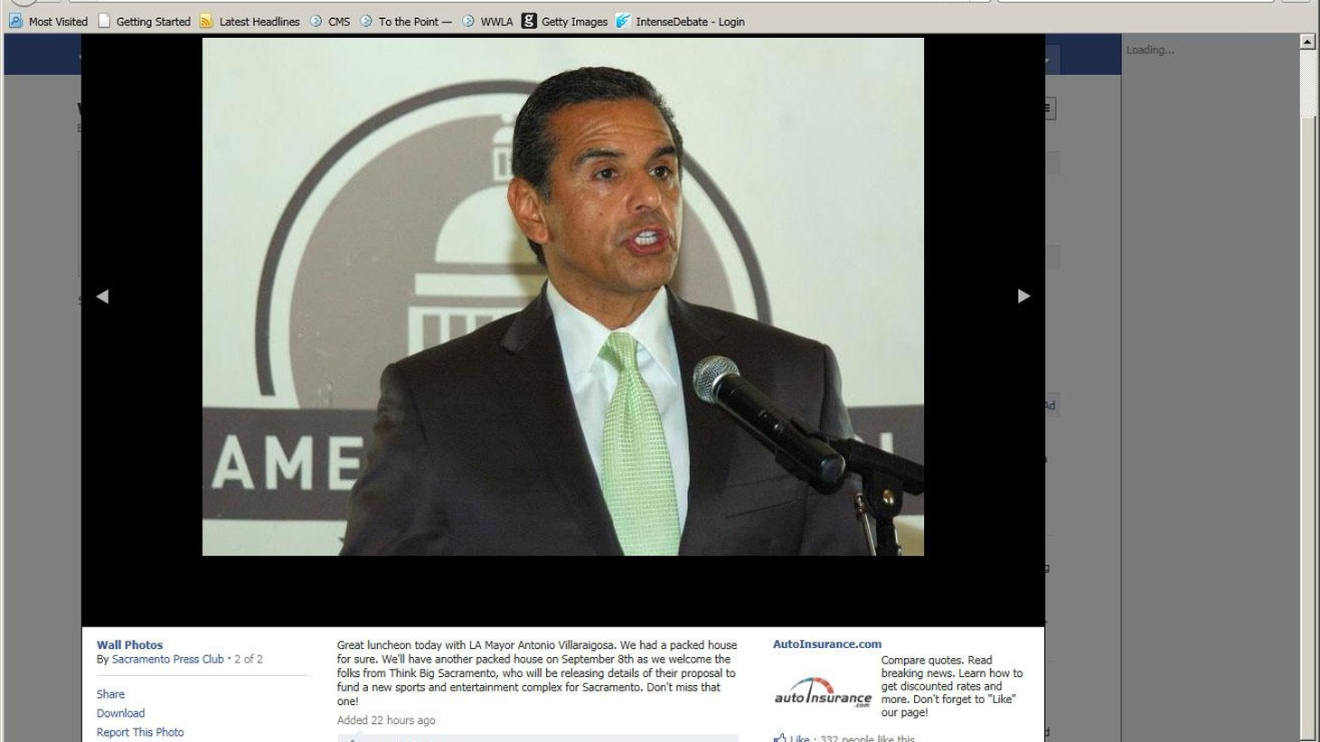 """Mayor Villaraigosa calls for changes to Proposition 13, describing California's corporatetax structure a """"Swiss cheese of loopholes and exemptions...."""""""