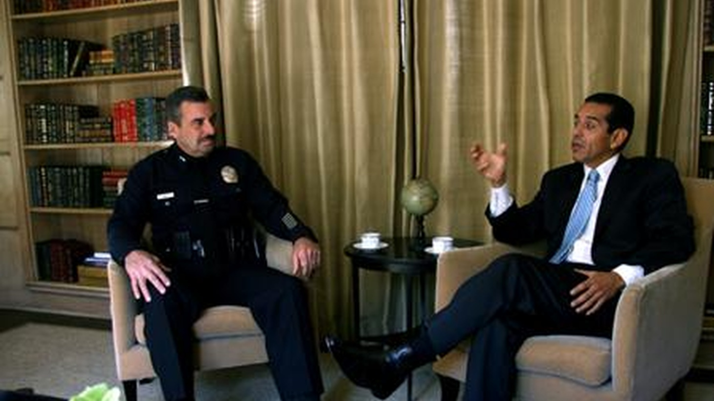 Mayor Villagraigosa has chosen Deputy Chief Charlie Beck to succeed Bill Bratton as Chief of the LAPD. We hear from both men and get reaction from a cross section of city figures. On our rebroadcast of today's To the Point, Hillary Clinton's having a tough time with Israelis and Arabs, and Congress is about to condemn a UN report on war crimes in Gaza.