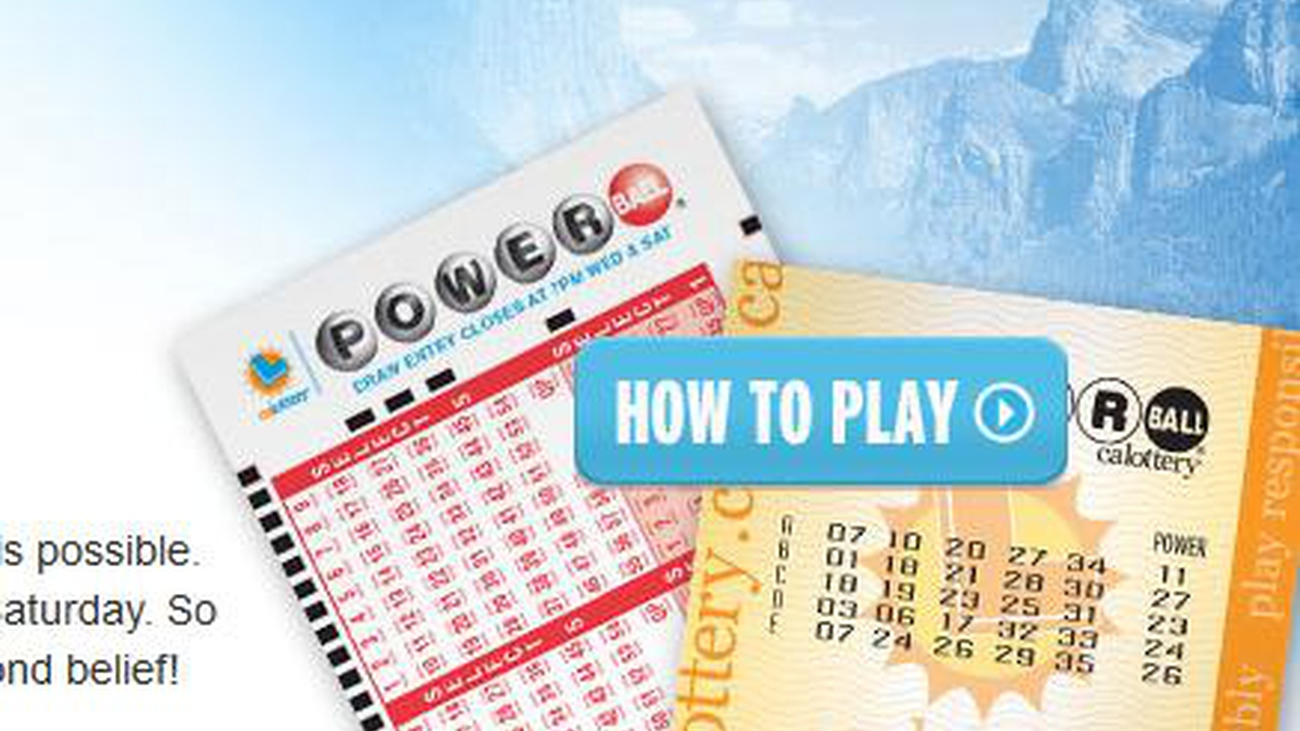 """Despite odds of 175 million to one, the State Lottery says Powerball will """"inspire"""" new players to """"believe in something bigger"""" than Super-Lotto-Plus and Megamillions."""