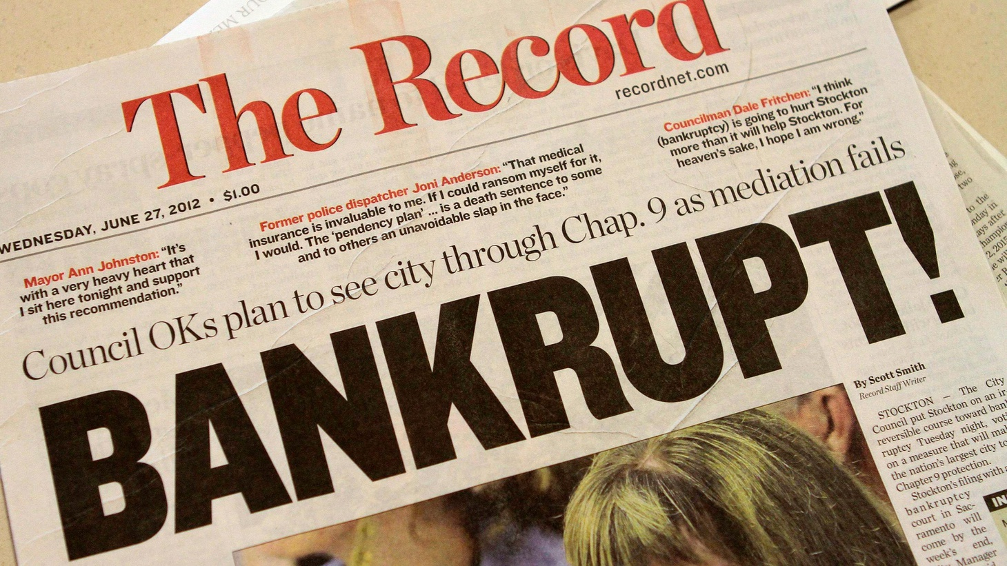 Cities around the US are watching bankruptcy proceedings to see if CalPERS, the state pension system, will have to wait in line with other Stockton creditors.