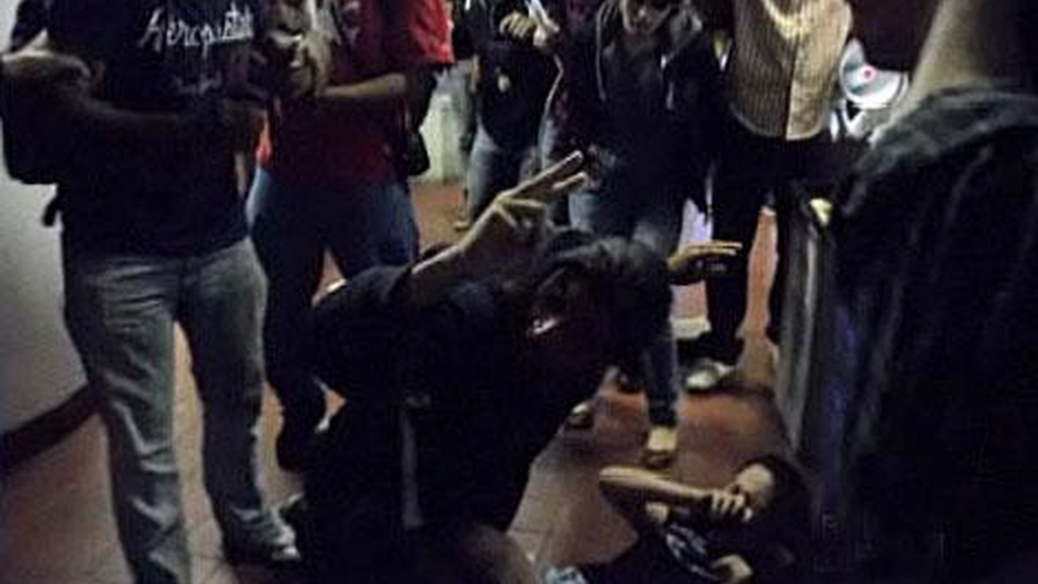 Student protesters were pepper-sprayed last night at Santa Monica College. The clash was sparked by efforts to cope with state's crisis in higher education funding.